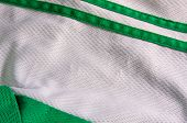 Green And White Jersey Material