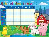 School timetable topic image 1 - eps10 vector illustration.