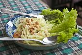 Asian green papaya salad