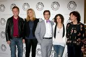 LOS ANGELES - 16 de JUL: Don Roos, Lisa Kudrow, Dan Bucatinsky, Sara Gilbert, Lily Tomlin chega ao