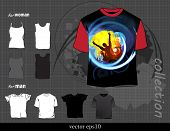 T-shirts template. Vector