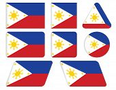 Buttons With Flag Of Philippines
