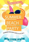 Sommer Beach Party Vektor Poster