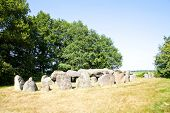 Ancient Dolmen Of Stones In The Netherlands