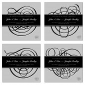 Vector Ornamental Frame Set. Easy to edit. All layers are separated.