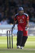 LONDON - 12 SEPT 2009; London England: England team player Ravi Bopara during the Nat West, 4th one day international cricket match between England and Australia held at Lords Cricket ground