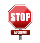 stock photo of pro-life  - stop abortion illustration design over a white background - JPG