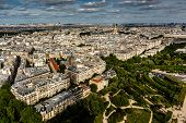 Aerial View On Champ De Mars And Invalides From The Eiffel Tower, Paris, France