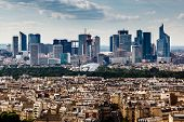 Aerial View On La Defense And Its Scyscrapers In Paris, France