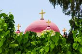 Christian Orthodox Church In Natural Foliage Frame