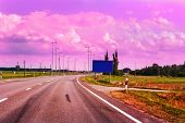 Empty Road Of Via Baltica E67 And Vanilla Sky
