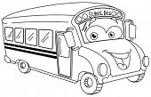 pic of bus driver  - Outlined school bus cartoon - JPG