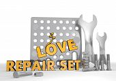 Illustration Of A Isolated Love Pictogram Repair Set