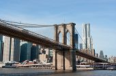 Brooklyn Bridge With Manhattan Cityscape Behind