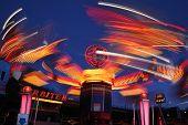 Light Trails On A Funfair