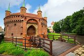 Cracow barbican - medieval fortifcation at city walls, Poland