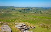 Ansicht der Dartmoor Nationalpark Devon