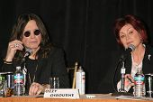 Ozzy Osbourne and Sharon Osbourne at the OZZFEST 2007 press conference. Century Plaza Hotel, Century