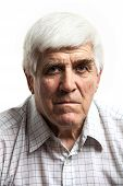Portrait of handsome mature man looking at camera