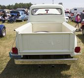 1956 Ford F-100 White Truck Rear View