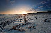 Sunset Over Baleshare Beach, Outer Hebrides, Scotland.