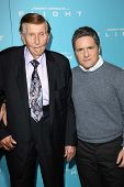 Sumner Redstone and Brad Grey at the