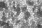Abstract Texture Of A Gray Mosaic