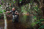 Man  In The Congo Jungle