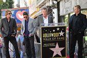 Dasvid Foster, Rascal Flatts, Gary LeVox, Jay Demarcus, Joe Don Rooney at the Rascal Flatts Star on the Hollywood Walk of Fame, Hollywood, CA 09-17-12