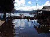 foto of siluet  - Fishing Spots at Bali at sunny and cloudy day - JPG