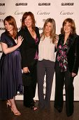 Bryce Dallas Howard and Andrea Buchanan with Jennifer Aniston and Carol Leifer at the Glamour Reel Moments Short Film Series presented by Cartier. Directors Guild of America, Los Angeles,CA. 10-16-06