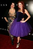 Jackie Watson and Phoebe Price at Hugo Boss's