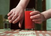 Choice Between Vodka And Tomato Juice