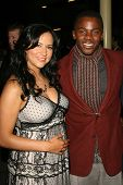 Sophia Luke and Derek Luke at the premiere of