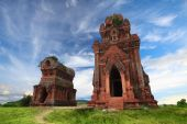 stock photo of champa  - Banh It hinduism Towers Qui Nhon Vietnam - JPG