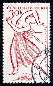 Postage Stamp Czechoslovakia 1961 Dancer