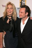 Sharon Stone and Christian Slater at the Hollywood Film Festival's 10th Annual Hollywood Awards Gala. Beverly Hilton Hotel, Beverly Hills, CA. 10-23-06