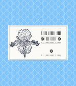 Card with iris flower