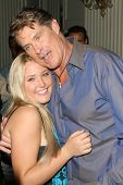 David Hasselhoff and Taylor-Ann Hasselhoff at the DVD Release of