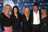 Alexis Arquette, Courteney Cox, Rosanna Arquette, Thomas Jane and Patricia Arquette at the NBC fall