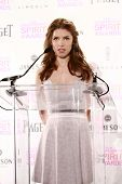 Anna Kendrick at the 2013 Film Independent Spirit Awards Nominations, W Hotel, Hollywood, CA 11-27-12