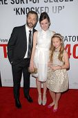 Judd Apatow and kids Maude Apatow and Iris Apatow at the