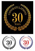 30 years anniversary laurel wreaths