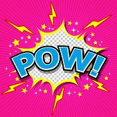 Pow! Comic Speech Bubble, Cartoon.