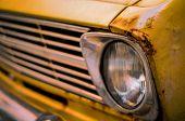 Retro Style Vintage Rusty Car