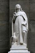RIOMAGGIORE, ITALY - MAY 02, 2014: Saint John the Evangelist statue, Saint John the Baptist church i