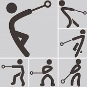 Hammer Throw Icons