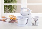 Electric mixer machine with weight scale