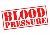 stock photo of pressure vessel  - BLOOD PRESSURE red Rubber Stamp over a white background - JPG