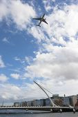 Dublin, Ireland - Sept 15: Flightfest Over Samuel Beckett Bridge In Dublin Ireland On September 15,